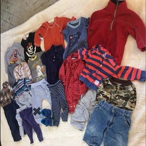 🎃 Lot of 23 baby boys 12 months clothes-